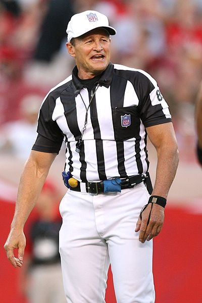Ed Hochuli - Check out the guns on this 62 year old!