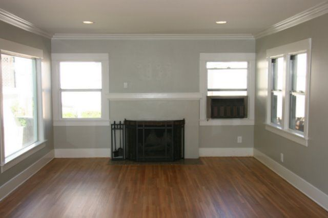 Sherwin Williams (SW) - Mindful Gray (more pics on blog) Paint - mindful gray living room