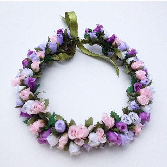 Coroa de Flores Lilás | Debrevet Acessórios | Elo7