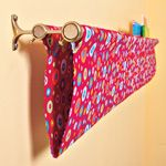 For next to the girls beds using the same fabric as the quilts Opa is making for them. Holds all the favorite books.