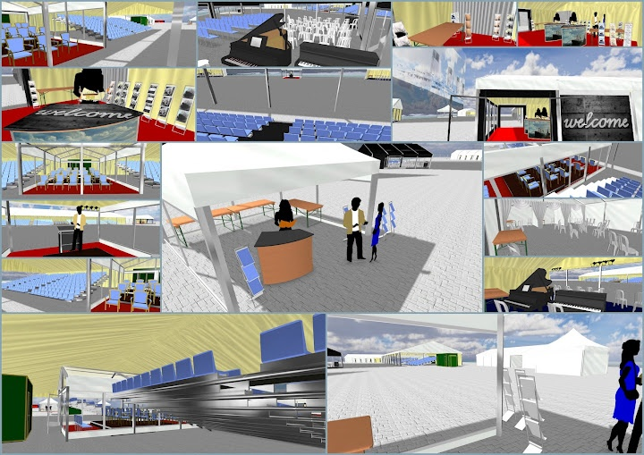 Selection of scenes mostly inside the marquees that were to be for Southampton's Titanic100 event, before the event was moved off the original berth in to the terminal building. This is just a collage of the stills which you can see better in the PDF at http://slidesha.re/HQ0VYg and www.cadification.com/titanic shows a video tour of this marquee! And www.cadification.com showcases other such CAD mockups & virtual tours we've done in case you really like it!