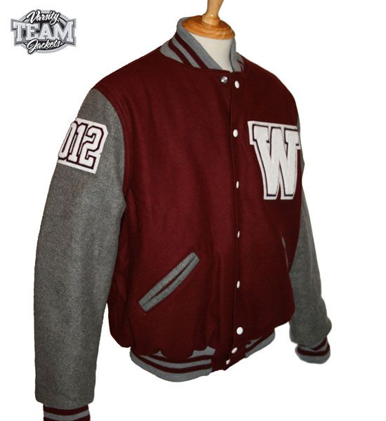 Wavell State High School custom school leavers wool and leather varsity jacket with chenille patches and embroidery by Team Varsity Jackets.  www.teamjackets.net www.facebook.com/TeamVarsityJackets