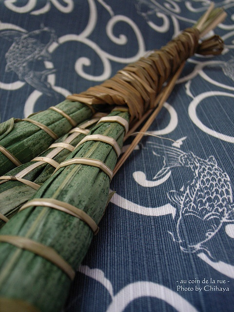 Japanese food -Chimaki-: sweet rice cake wrapped with the bamboo grass