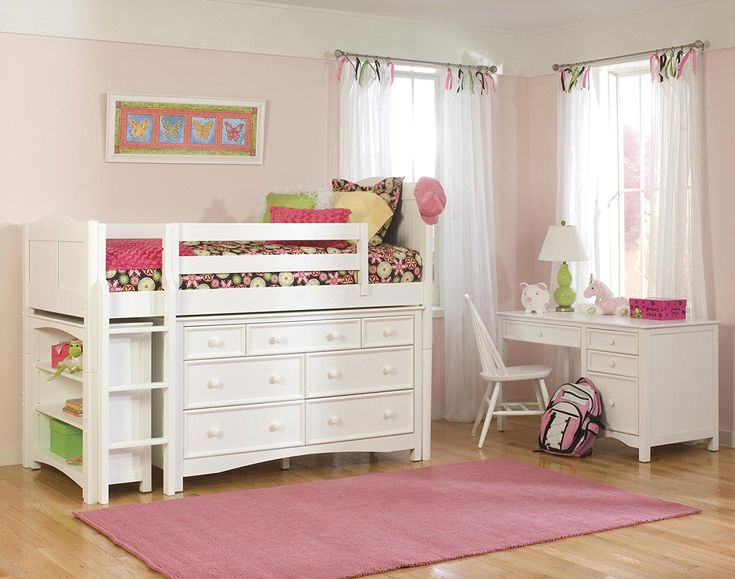 Amazon.com: Bolton Furniture 9811500LS8020 Cottage Low Loft Storage Bed with Wakefield 7 Drawer Dresser and Bookcase, White: Kitchen & Dining