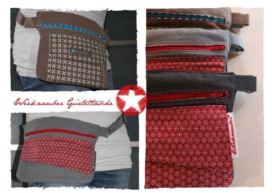 Werkzauber: Tutorial Anleitung für eine Gürteltasche/Hüfttasche (Hip-Bag)
