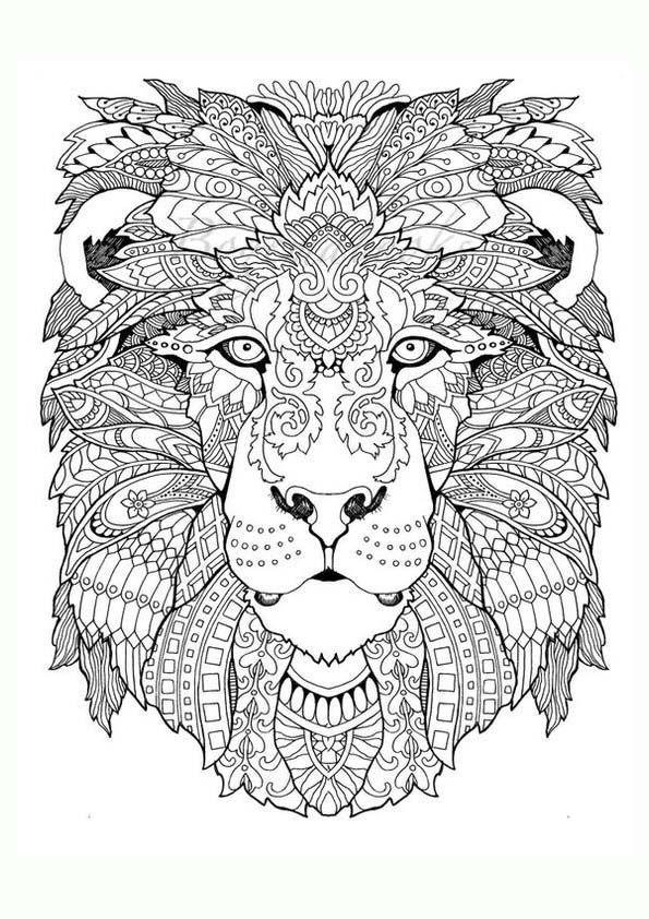 Dibujo Para Colorear Mandala De Una Ilustracion De La Silueta De