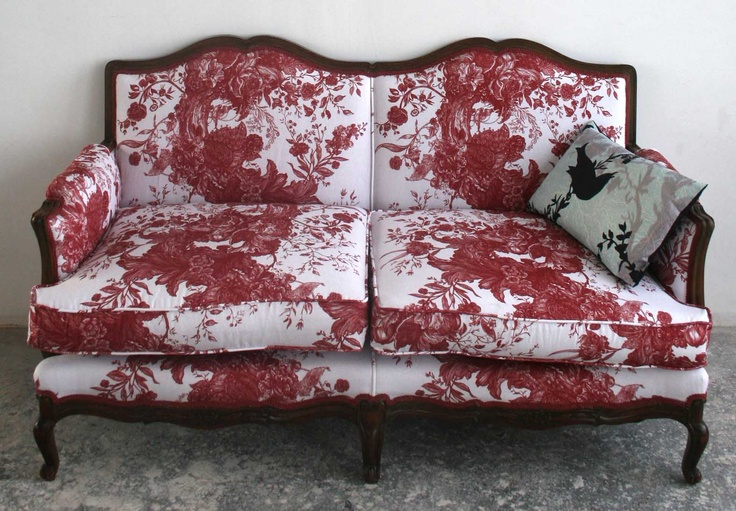 Stunning sofa upholstered in Tree of Life toile fabric. Available to buy at our Glasgow showroom.