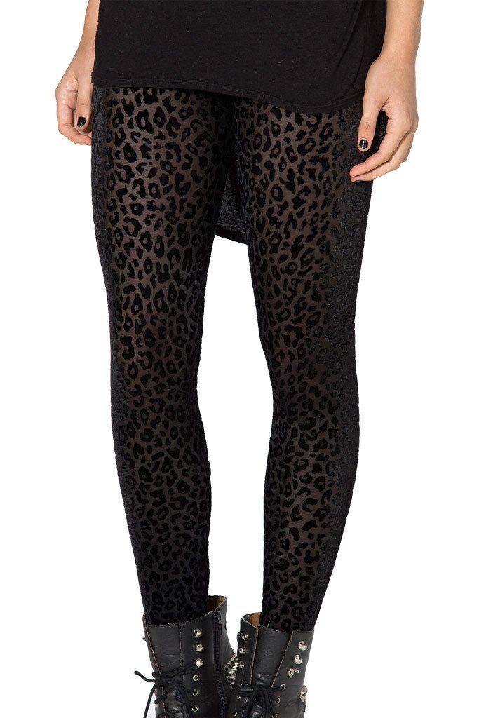 Sz M Burned Cheetah Leggings