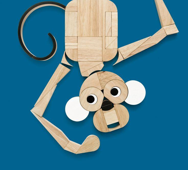 Houten creatief speelgoed van de hoogste plank met de Miller Goodman Playshapes!