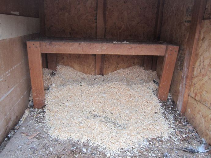 Chicken Coop Cleaning only twice a year with no smell