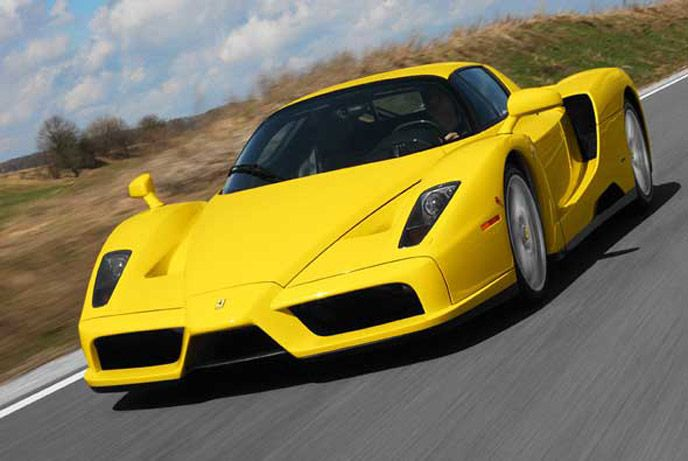320 X 213 Cars Wallpapers Yellow Ferrari Enzo Wallpaper