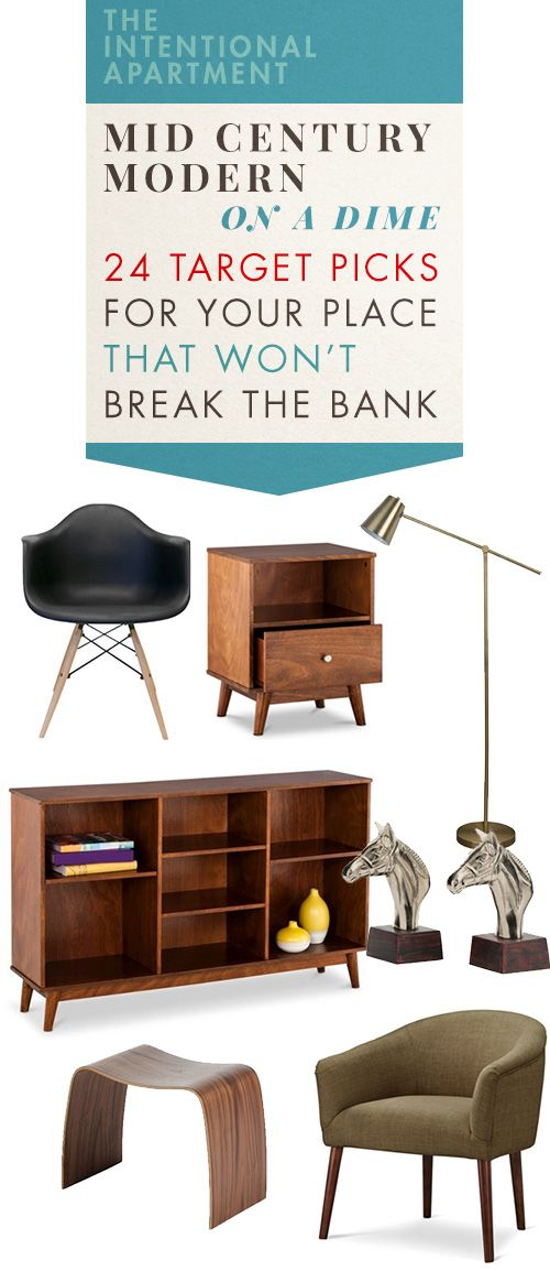 mid century modern on a dime 24 target picks for your place that wonu0027t break the bank - Mid Century Modern Decor