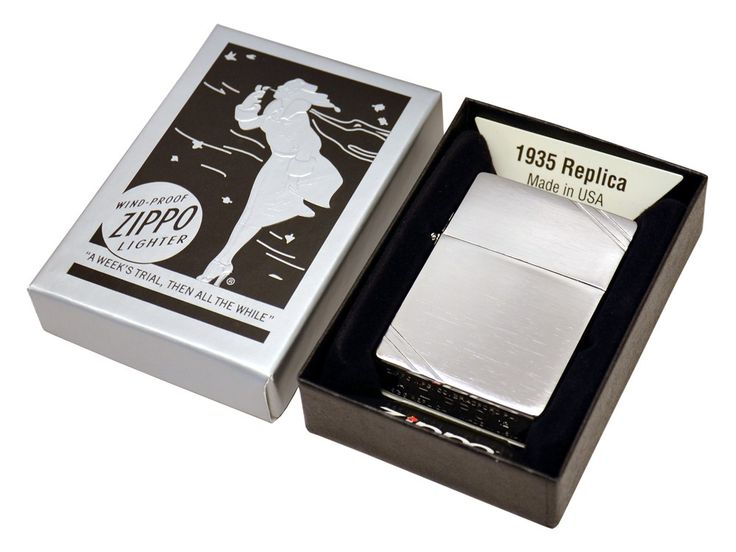 Buy Zippo Replica 1935 with Slashes at price of £54.00 at wegetpersonal.co.uk. Zippo Replica 1935 with Slashes with engraving. Unique Zippo lighter with the same design as their 1935 model. Visit We Get Personal to order your lighter today. Source: http://www.wegetpersonal.co.uk/zippo-replica-1935-with-slashes.html