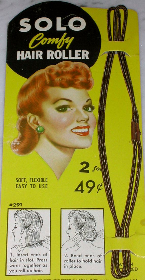 Vintage Hair Rollers for 40s Pin-up Hairstyles Victory Rolls