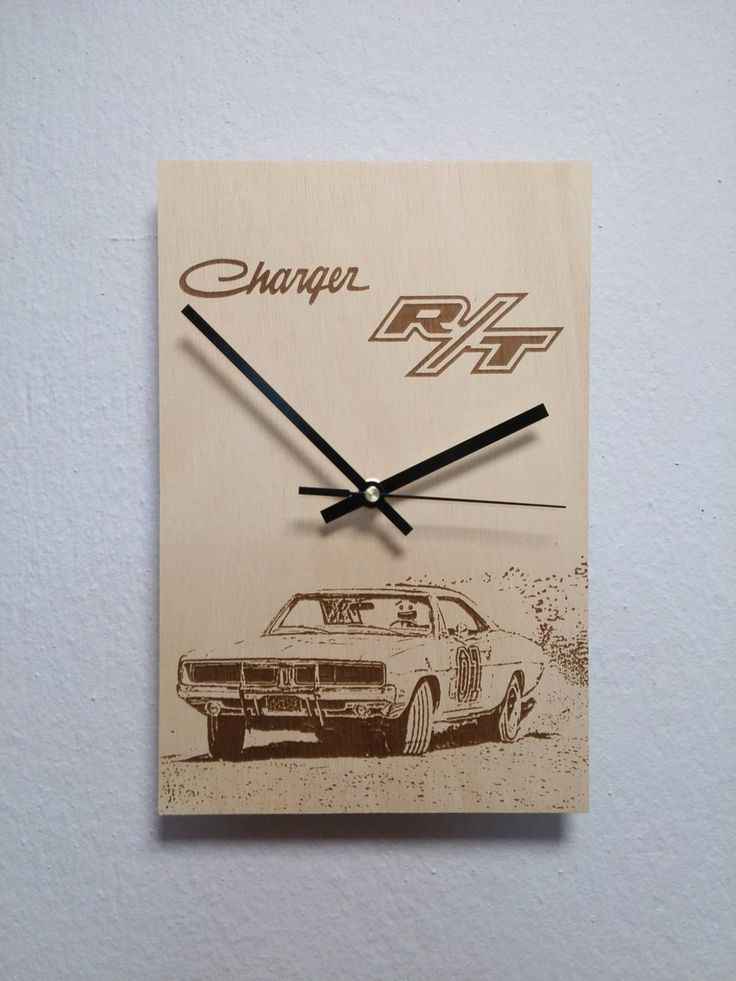 Dodge charger General LEE Wooden wall clock http://etsy.me/2CdCvvR
