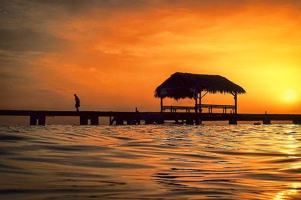 Sunset walk at Pigeon Point, Tobago