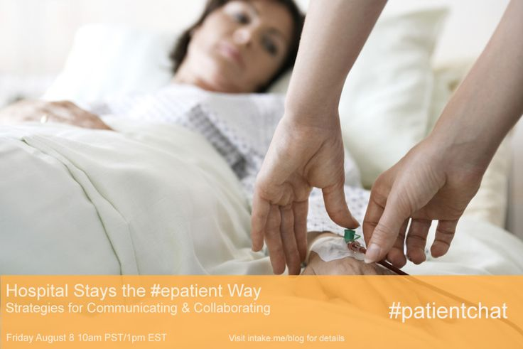 You're invited!  Hospital Stays the #epatient Way - This Friday's #patientchat http://www.intake.me/hospital-stays-the-epatient-way-this-fridays-patientchat/?utm_campaign=coschedule&utm_source=pinterest&utm_medium=Intake.Me%20(Intake.Me%20Blog)&utm_content=Hospital%20Stays%20the%20%23epatient%20Way%20-%20This%20Friday's%20%23patientchat