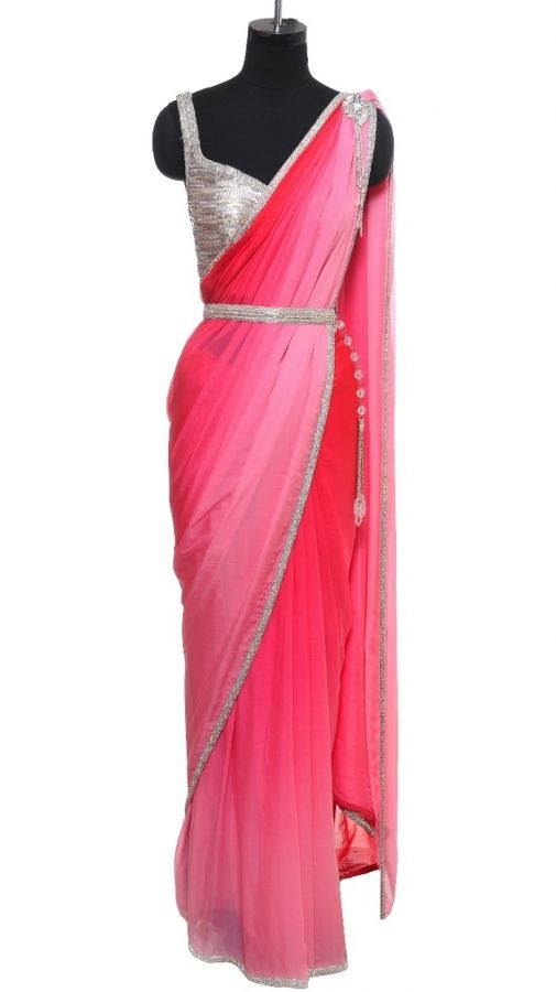pink shaded saree - by Rakesh Agarwal