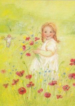 Bloemen plukken (K30-61)  ansichtkaart