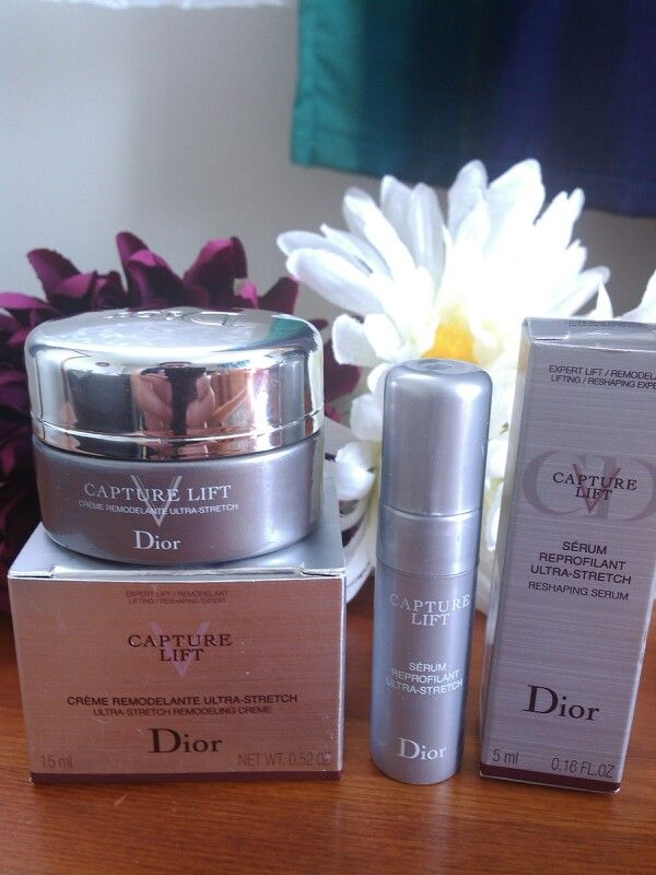 yipee my samples for Dior latest skincare release 'Dior Capture V Lift'. Both the Ultra stretch remodelling creme and Ultra stretch Reshaping serum. Dynamic duo. Cant wait to trial these babies out. Just waiting for the Capture V Lift corset mask sheets to arrive. Skin bliss
