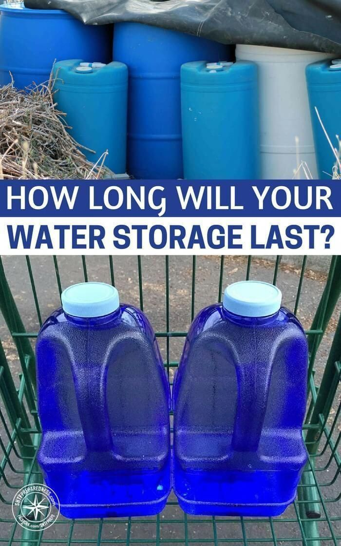 How Long Will Your Water Storage Last Waterstorage Prepping