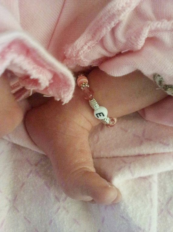 We may need these if the girls are identical...Newborn Size Twin Girls ID Bracelets Set of by MonkeysNMunchkins, $15.00