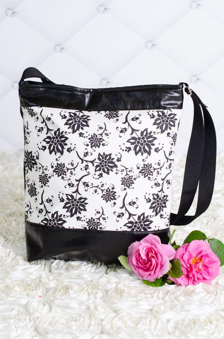 Textilbőr női táska, Táska, Válltáska, oldaltáska, Tarisznya, Meska