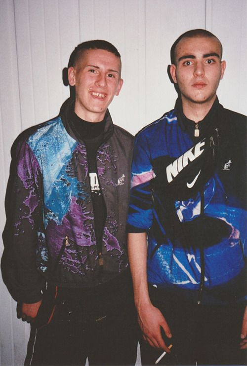 Nike was a large brand involved in Gabber culture, specifically Nike sneakers and windbreaker sports jackets.