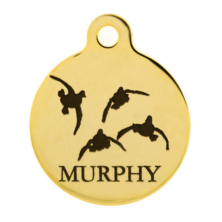 Is your pooch also your hunting buddy? Celebrate the season opening with a personalized ID tag specifically for your sporting dog! 16 different sport designs to choose from.