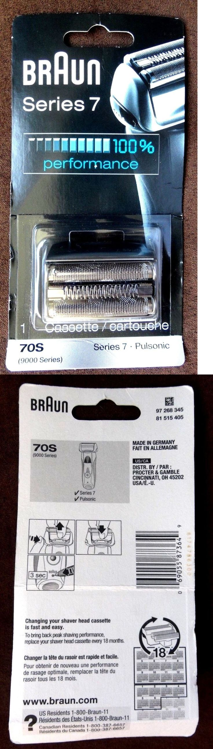 Shaver Parts and Accessories: Braun 70S Series 7 Pulsonic - 9000 Series Shaver Cassette - **Authentic Sealed** BUY IT NOW ONLY: $52.88