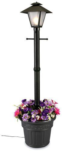 Cape Cod 66000 Black Planter Lamp, 80-inch by Patio Living Concepts. Pool deck. Minus the ugly flowers.