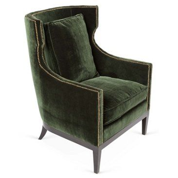 Check out this item at One Kings Lane! Roswell Chair, Forest