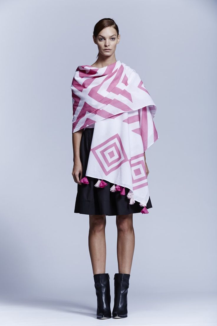 Pink Diamond Scarf. Roopa Pemmaraju Spring/Summer 2014/15, Urban Culture Collection. Artist: Reko Rennie