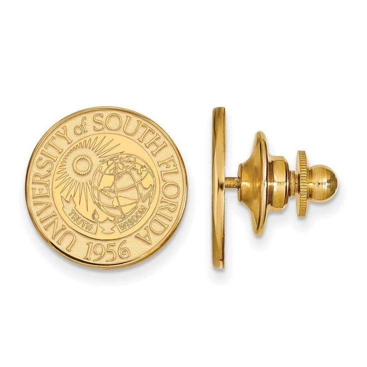 14ky LogoArt University of South Florida Crest Lapel Pin
