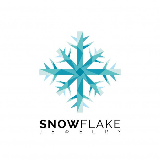 Blue Triangle Snowflake Logo Template
