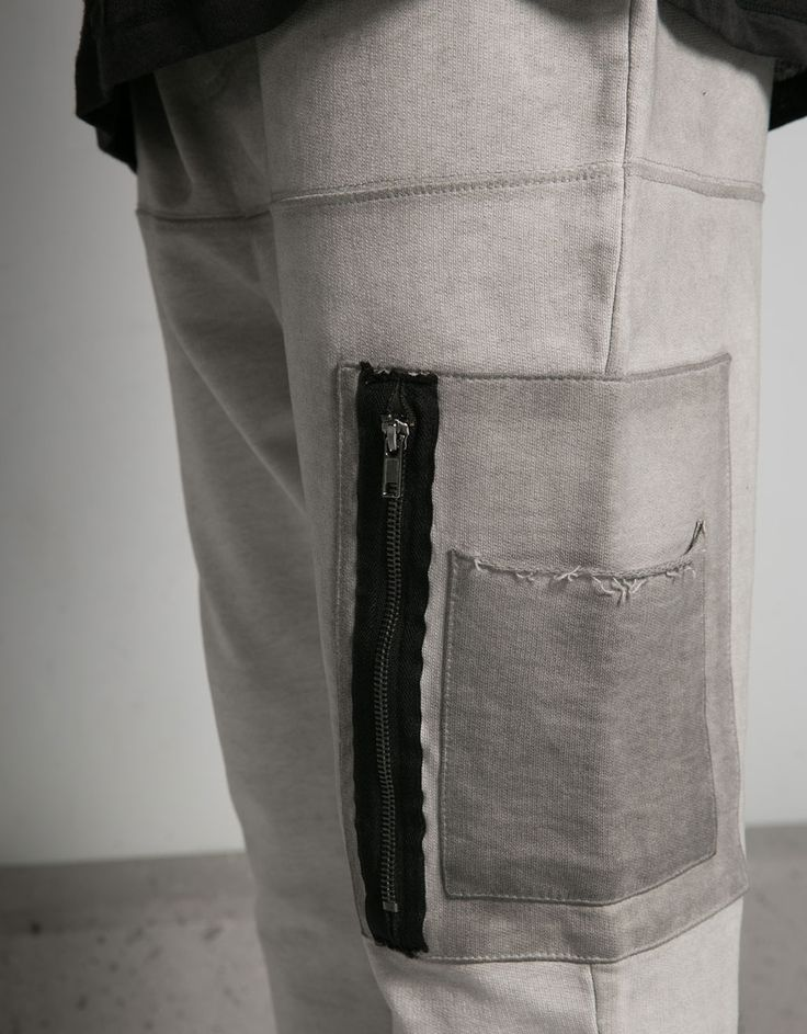 Pantalón felpa degradados detalle bolsillo puño en bajo - Pantalones jogging - Bershka Mexico