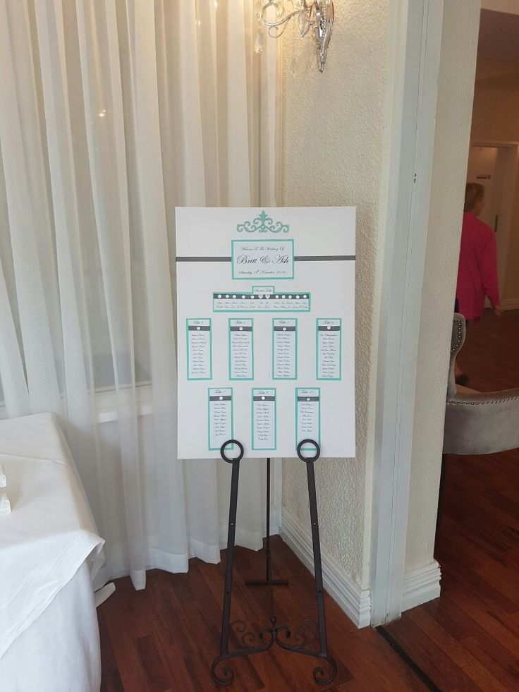 Our seating plan, colours and style matches theme and invitations
