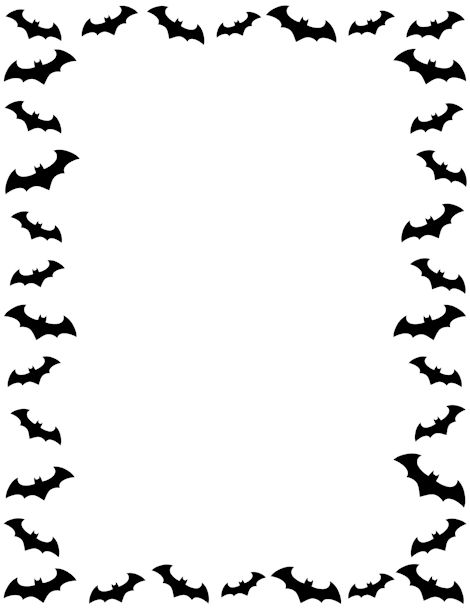 Bat page border. Free downloads at http://pageborders.org/download/bat-border/