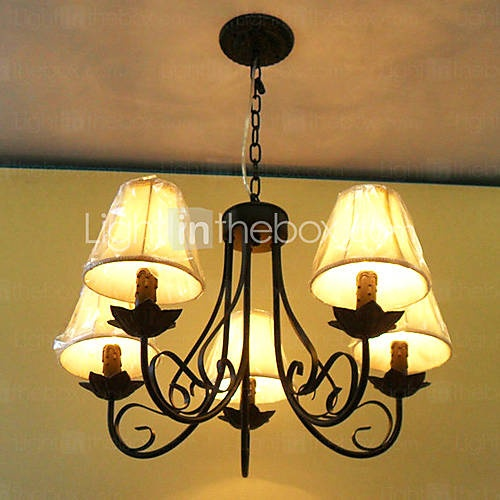 Bedroom   Chandelier with 5 Lights in Antique Style