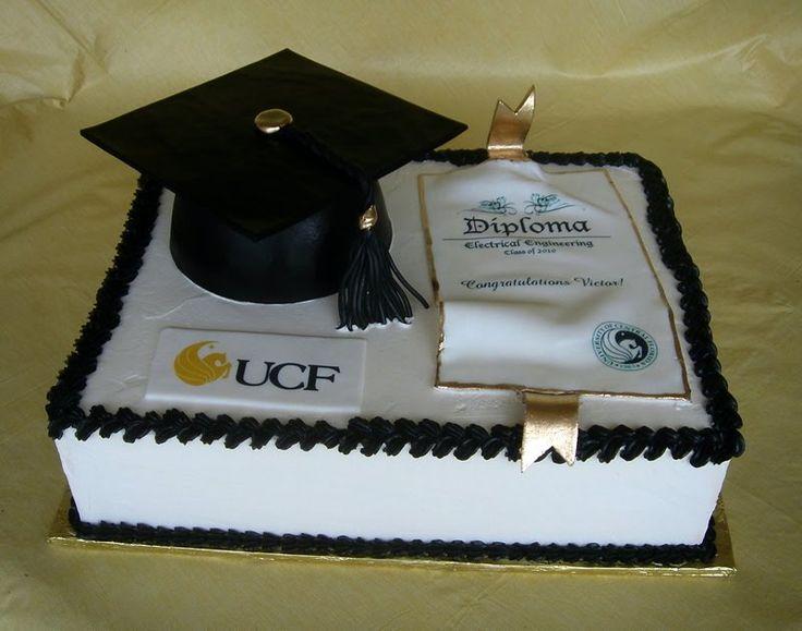 Graduation Cake Ideas For UCF Student cakepins.com   Cake ...