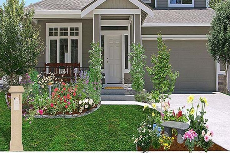 Easy frontyard cheap landscaping ideas home interior - Cheap landscaping ideas for front yard ...
