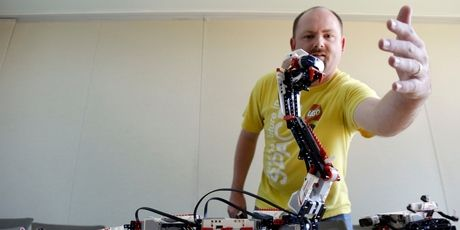Will Gorman has used Mindstorms kits to create a Lego toilet flusher, a Wii-playing robot that bowled a perfect game and a Lego Mars Curiosity Rover.Picture / AP