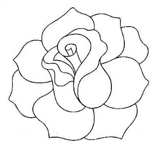 Rose Line Quilting Pattern Could use for appliqué as well, shawl? Jingle?