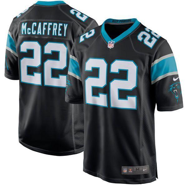 Christian McCaffrey Carolina Panthers Nike Youth 2017 Draft Pick Game Jersey - Black - $74.99