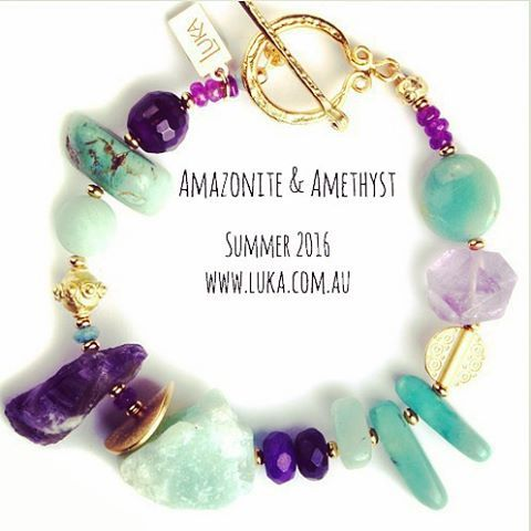 These semi-precious Amazonite & Amethyst rocks just need to be taken out by a glamorous, cool & independent woman!