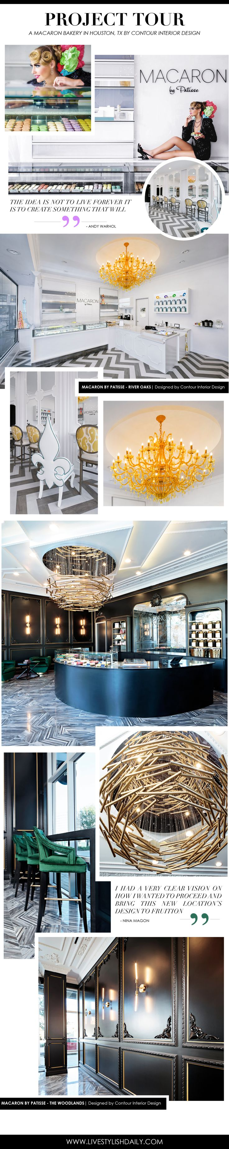 PROJECT TOUR A Macaron Bakery Designed By Contour Interior Design Located In Houston