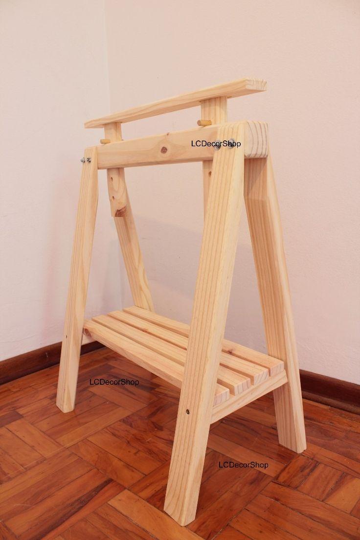 cavalete mesa escritorio madeira tok stok etna design anos50