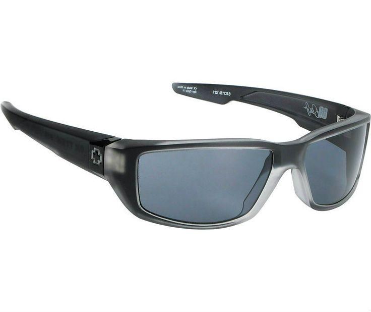 Spy Sunglasses Dirty Mo Sunglasses Black Ice | Grey, $84.95 (http://www.eyewearetc.com/dirty-mo-sunglasses-black-ice-grey/) #spysunglasses