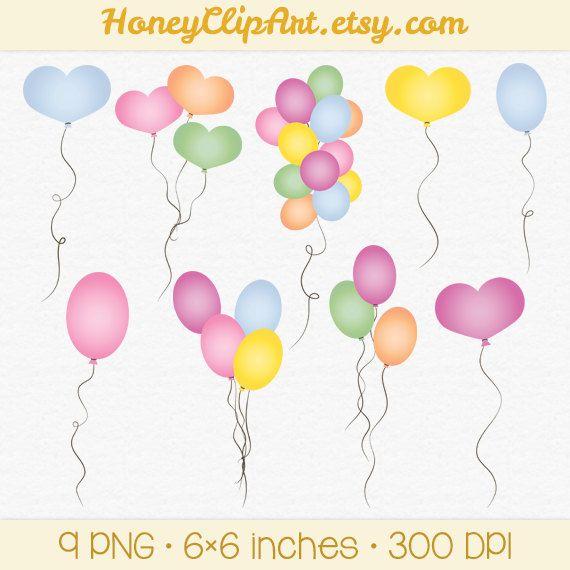 Dijital Balon Klip Art Parti Klip, Dijital Kalp Balon Klip, Doğum Günü Partisi Klip Art, Doğum Günü Defteri, Pembe Balon