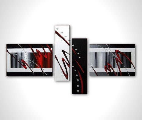 Multi panel contemporary art - modern abstract painting - modern art - stretched canvas ready to hang. $140.00